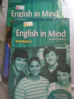 Cambridge English in Mind Workbook 4 and Student's Book 4 second edition
