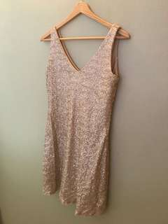 Zara gold glitter dress