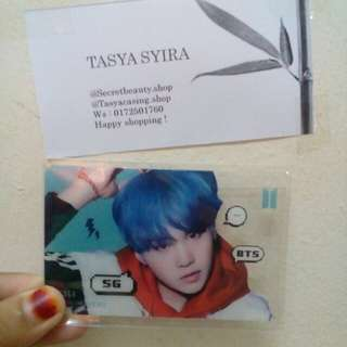 BTS Suga Transparents Card