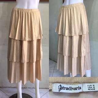 STRADIVARIUS Ruffled Metallic Skirt