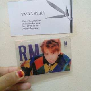 BTS RM Transparents Card