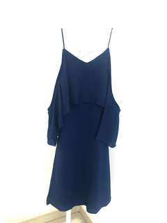 Dress Biru Navy - Sabrina Fashion