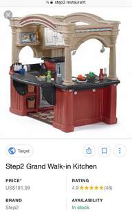 Selling < 40% of retail! : Step2 grand walk in restaurant