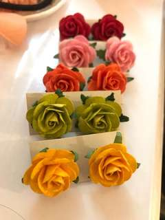 3D rose earrings Mother's Day