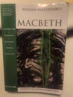 Macbeth - 3 in 1 text and study guide book