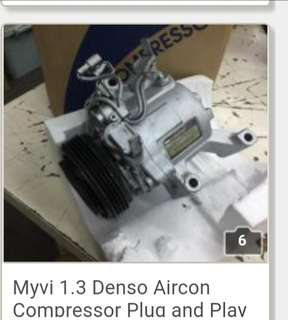 Myvi 1.3 Denso Aircon Compressor Plug and play