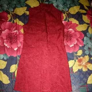 Outer merah marun elegan