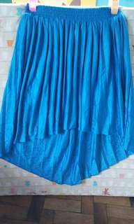 Topshop authentic high low pleated skirt
