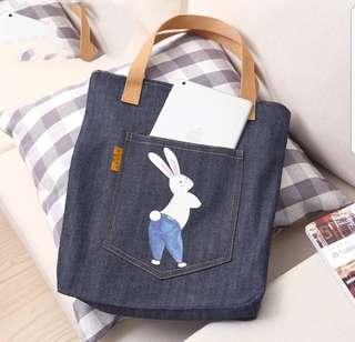 Canvas Tote Bag (Denim style)