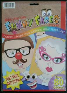 Make your own Funny Faces Stickers