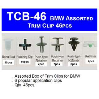 Car BMW Panel Trim Clip TCB-46  - 46pcs assorted