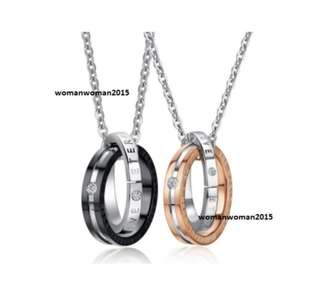 Titanium steel couple necklace (Sold pair or separately)