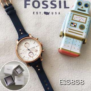 [100% Authentic] Fossil Watch Women - Blue Leather