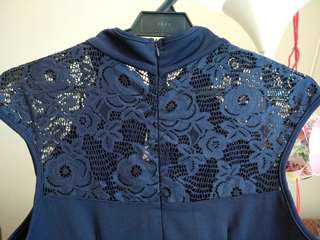 Preloved DarkBlue Cheongsam Style Dress