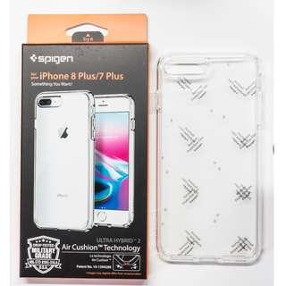 iPhone 7+/ 8+ SPIGEN Ultra Hybrid 2 (Crystal Clear/Black)