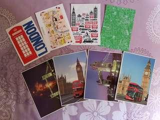 LONDON United Kingdom England Postcards