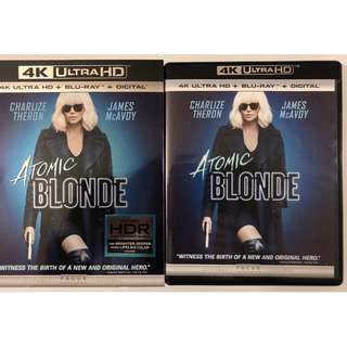 ATOMIC BLONDE 4K ULTRA HD BLU RAY 2 DISC SET SLIPCOVER