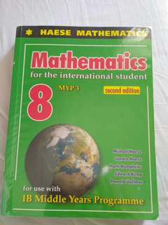 Haese Mathematics 8 MYP 3