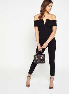 Miss Selfridge Bardot Bodycon Jumpsuit