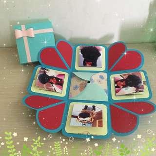 爆炸禮物盒卡片❤️站立機關卡片 生日禮物、母親節禮物、生日卡片、情人節禮物、父親節禮物、交換禮物、聖誕節禮物,畢業禮物