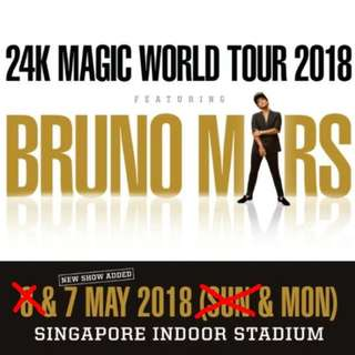Bruno Mars Standing B Monday 7 May 24K Magic Concert
