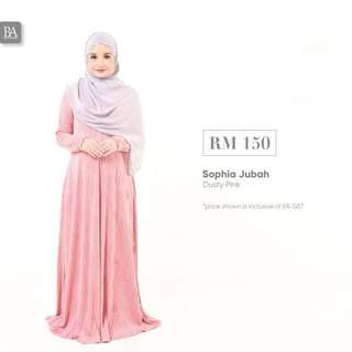 BELLA AMMARA SOPHIA JUBAH NEW COLORS AVAILABLE