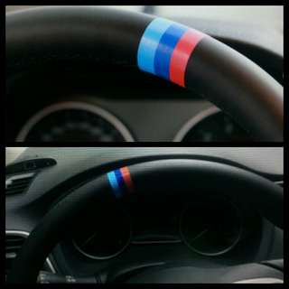 M-color Sticker on BMW STEERING WHEEL