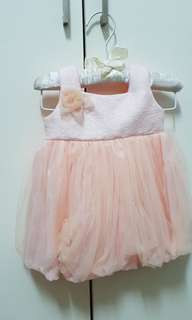 Crib couture peach party dress