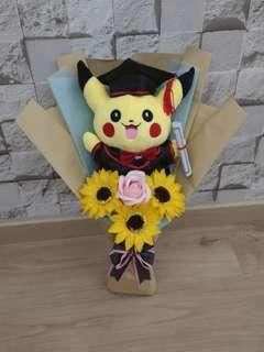 Pikachu graduation bouquet