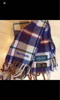 Brown Checked Winter Scarf (United Colors of Benetton)
