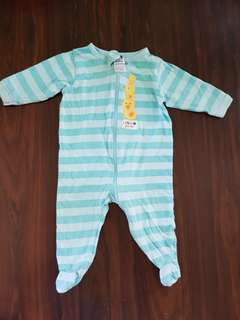 Gerbers Duck Print Footed onesies