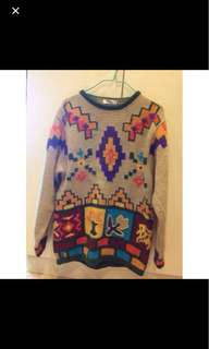 Patterned Knit Woolen Pullover Winter clothes