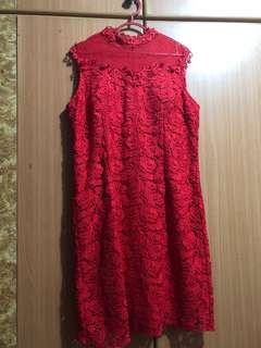 XL Red Lace Dinner Dress