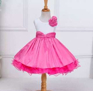 Princess Dress Pink and White Combination