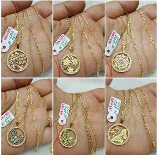 18K Necklace & Pendant
