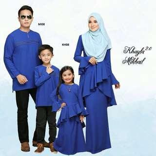 FAMILY SET KHAYLA KURUNG & KURTA MIKHAIL - ROYAL BLUE