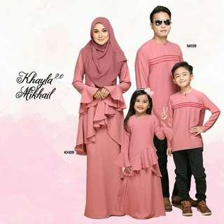 FAMILY SET KHAYLA KURUNG & MIKHAIL KURTA - DUSTY PINK