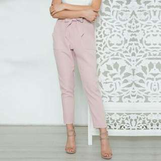 Chiffon high waisted pants