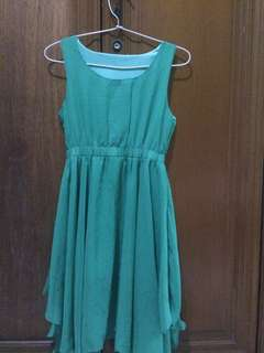 Mini dress green