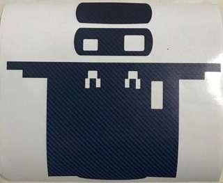 Carbon Fibre IU Sticker