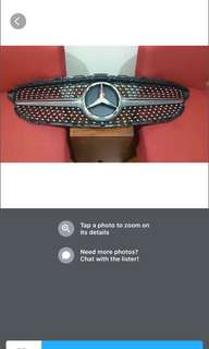 Mercedes C200 Coupe Original Diamond Front Grill