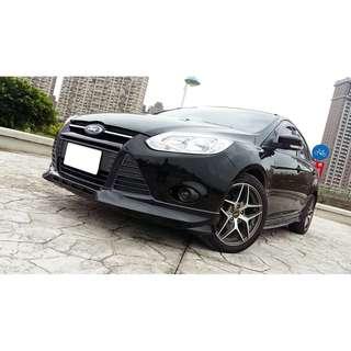 2014年 福特focus 柴油  四門  精品 黑 二手車中古車