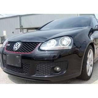 2008年 黑 GTI  2.0L  11萬里程 全車系0頭款!! 讓你不用現金把車開回家