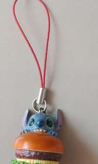 Stitch Burger Bite Mobile Charm Chain