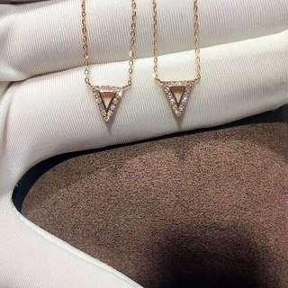 💋幾何三角形耳釘項鍊