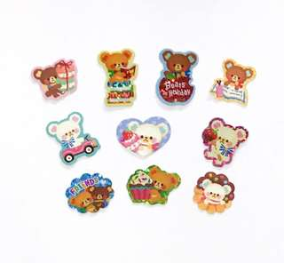 Kawaii Bear Sticker flakes