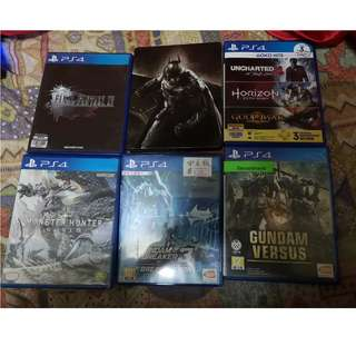 MHW,FF15,蝙蝠俠,Gundam Versus,God of War3,UNCHARTED,Gundam Breaker3