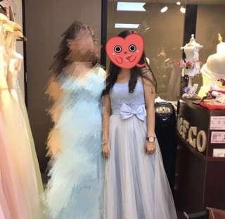 姊妹裙/伴娘裙/紗裙/晚裝 (蝴蝶結可拆)