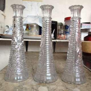 Glass Flower Vase Triplet