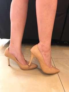Heatwave pointy heels-high heels-hak tinggi- size 36- light brown nude color